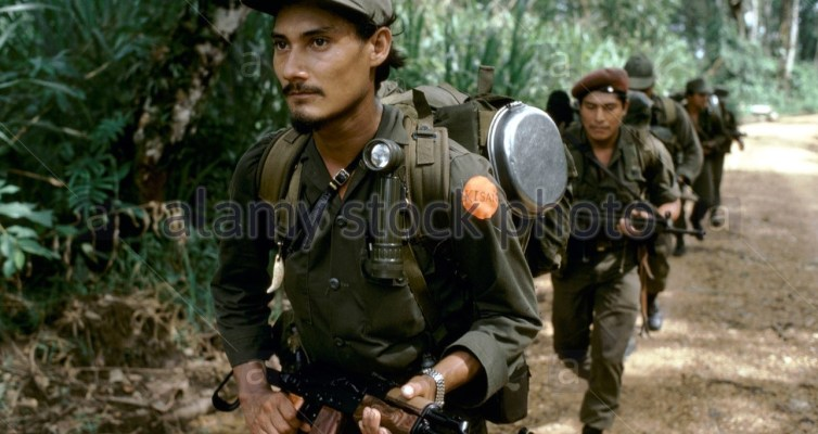 KISAN ANTI-SANDINISTA REBELS (MISKITO INDIAN CONTRAS) LEAVING FOR MISSION., 1986