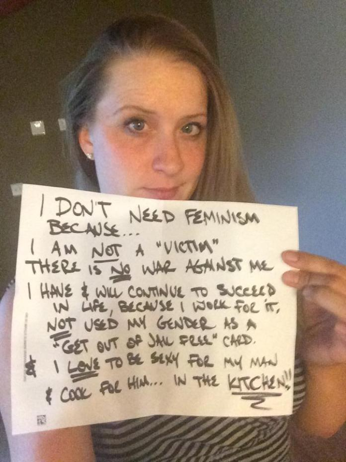 Women against feminism