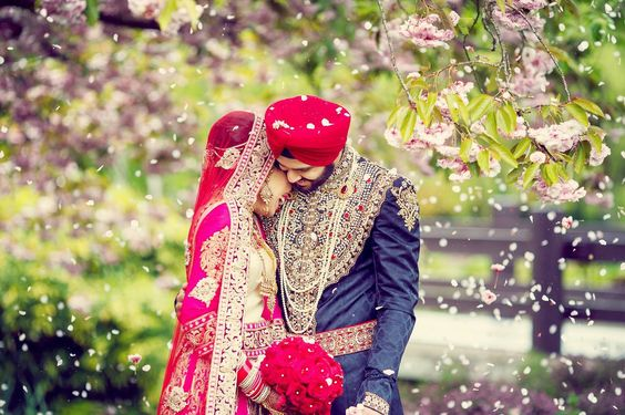 Cute Punjabi Married Couple Wallpaper Punjabi Wedding A Boisterous And Colorful Event Antiquaris
