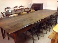 Large antique dining table , Antique French farmhouse ...