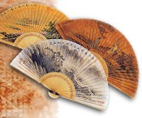 Hand Fans - Made of Korean Mulberry Paper and Bamboo Strips