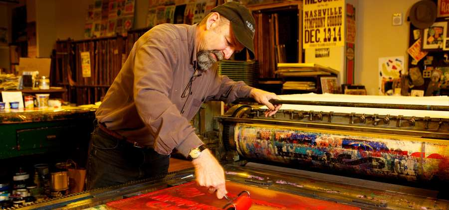 hatch show print nashville antique archaeology posters
