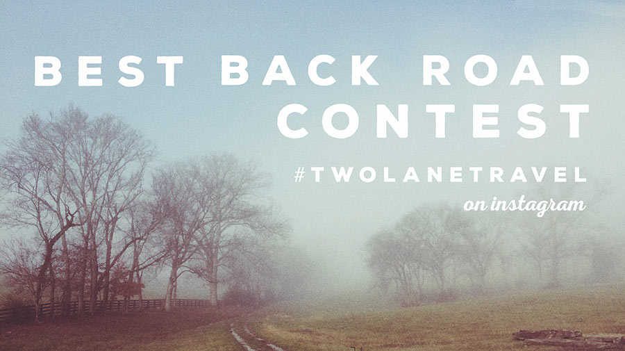 Back road travel contest
