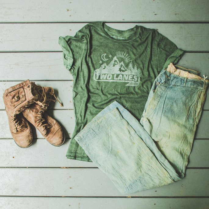 travel gear vintage clothes two lanes tee