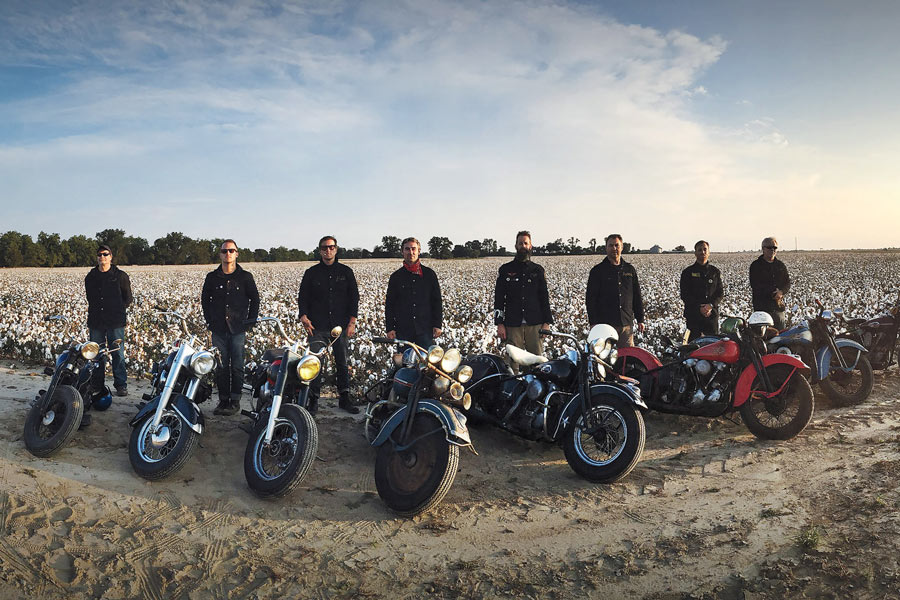 From left: Lucky Riders Curt Lisius, Todd Stopera, Butch Walker, Mike Wolfe, Matt Eddmenson, Robbie Wolfe, Dan Auerbach & Dave Ohrt