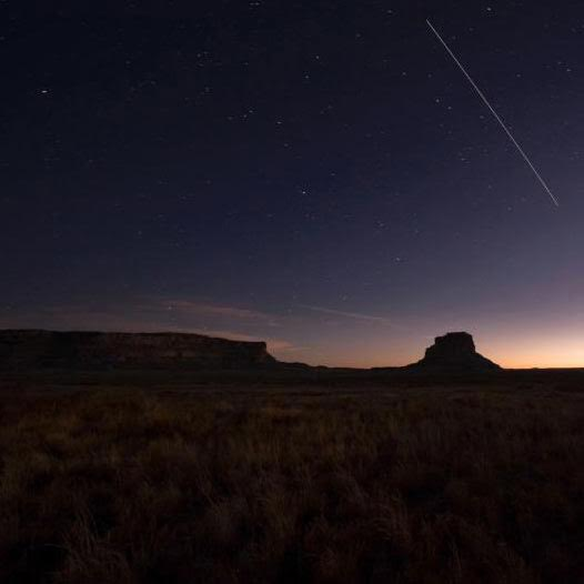 Fajada Butte at night. Photo courtesy of the National Park Service