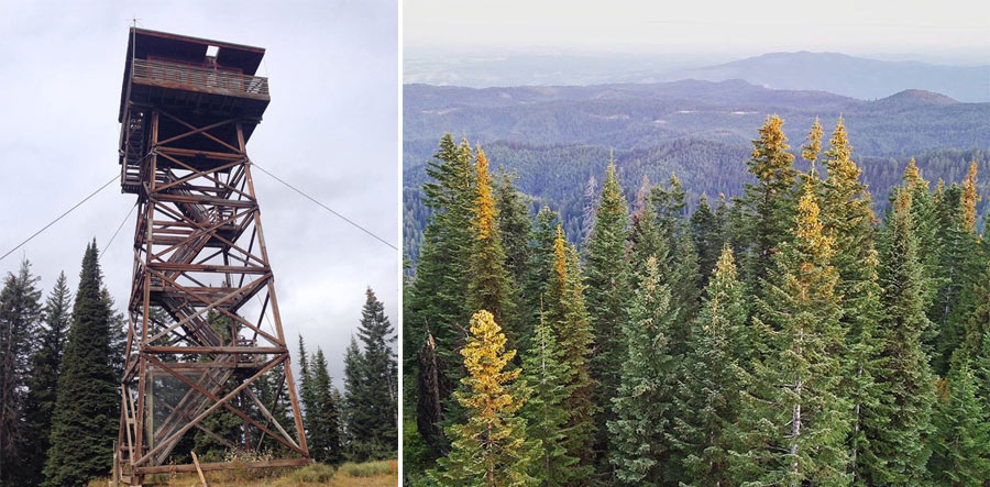 LEFT: It's a climb to the top! Photo by @arielamandah RIGHT: View from the lookout. Photo by @mountain_girl_fit