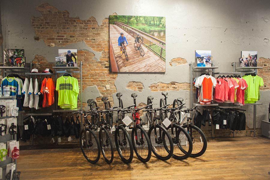 Interior of TreK Bicycle Shop