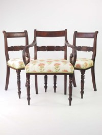 Set 3 Antique Mahogany Regency Chairs For Sale