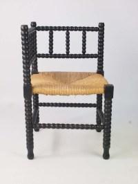 Antique Arts & Crafts Bobbin Turned Corner Chair
