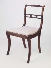Pair of Antique Regency Mahogany Trafalgar Chairs