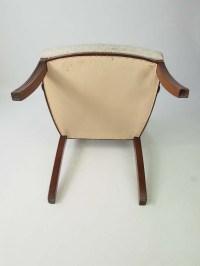 Antique Regency Mahogany Desk Chair / Open Armchair