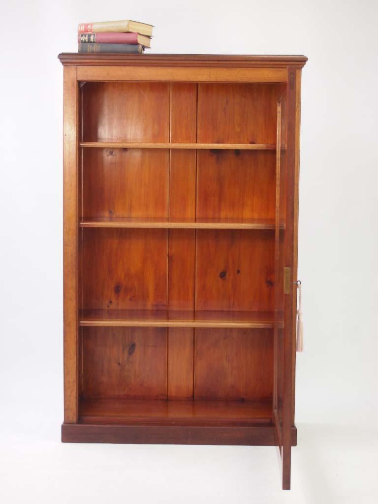 Antique Edwardian Mahogany Bookcase With Adjustable