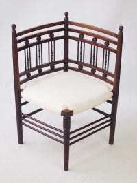 Edwardian Arts & Crafts Mahogany Corner Chair