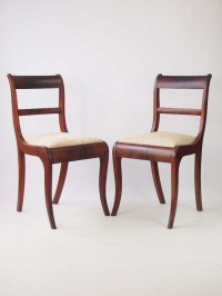 Pair Antique Regency Side Chairs