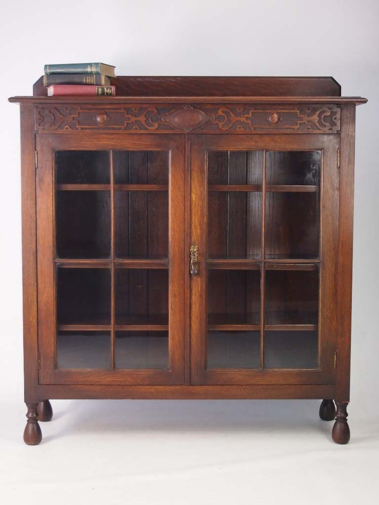 Antique Edwardian Oak Bookcase