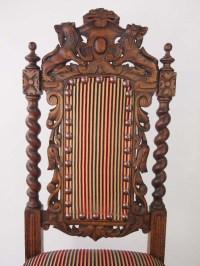 Antique Victorian Oak Gothic Revival Chair