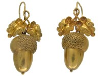 Victorian 15ct Gold Acorn Earrings - The Antique Jewellery ...