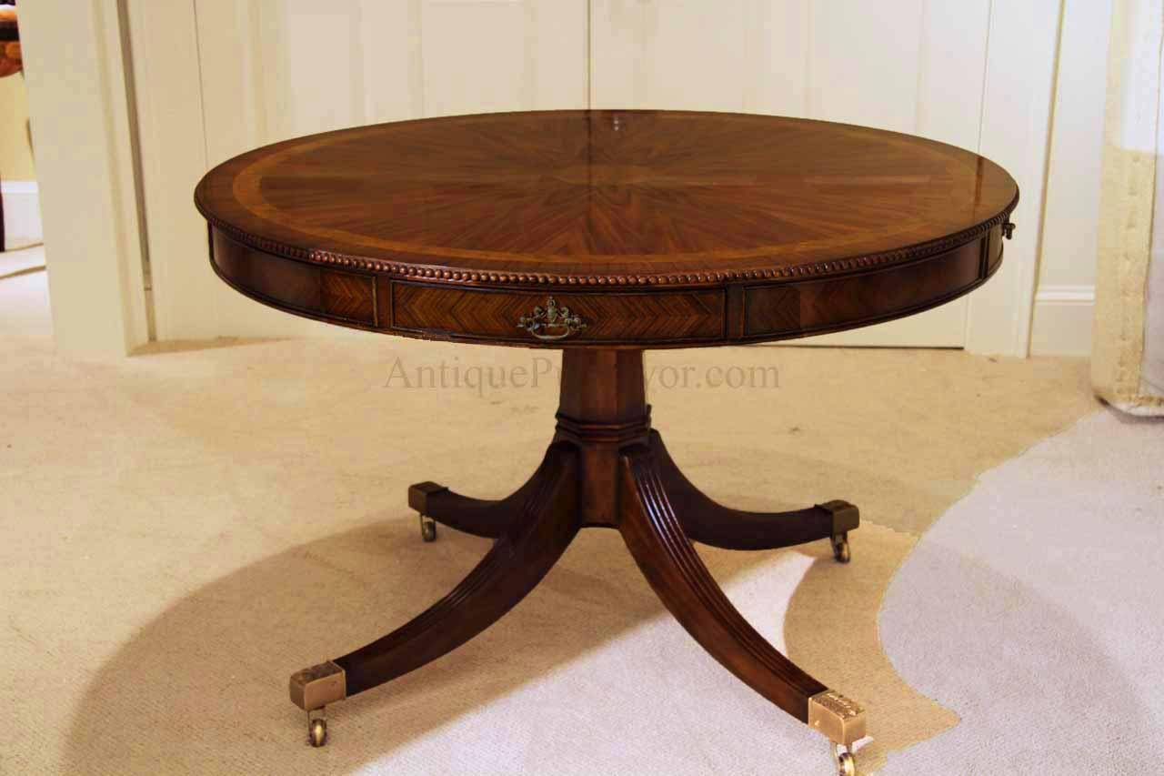 48 inch round mahogany dining table