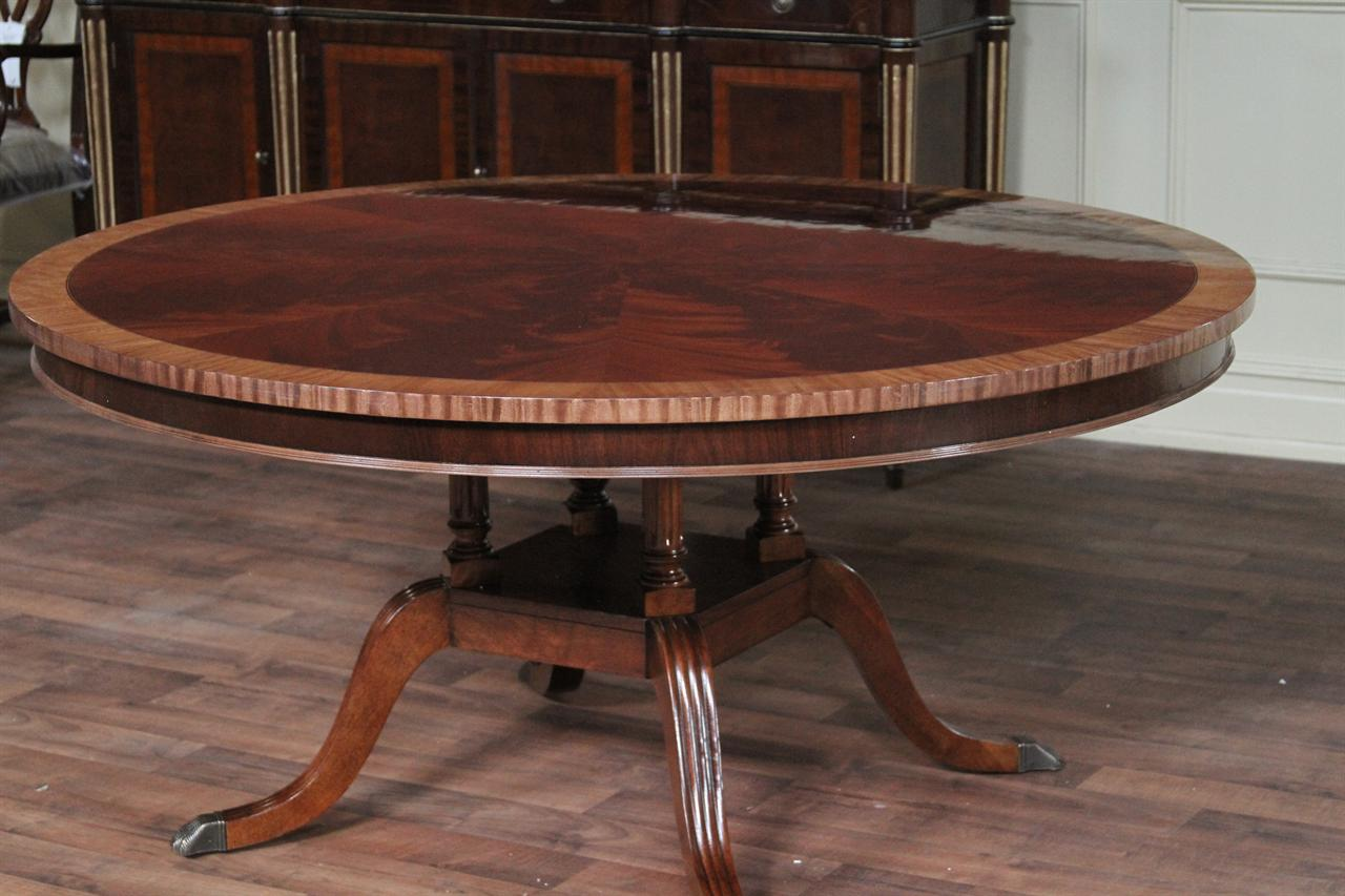 60 round flame mahogany dining room table hickory chair mount vernon 8614
