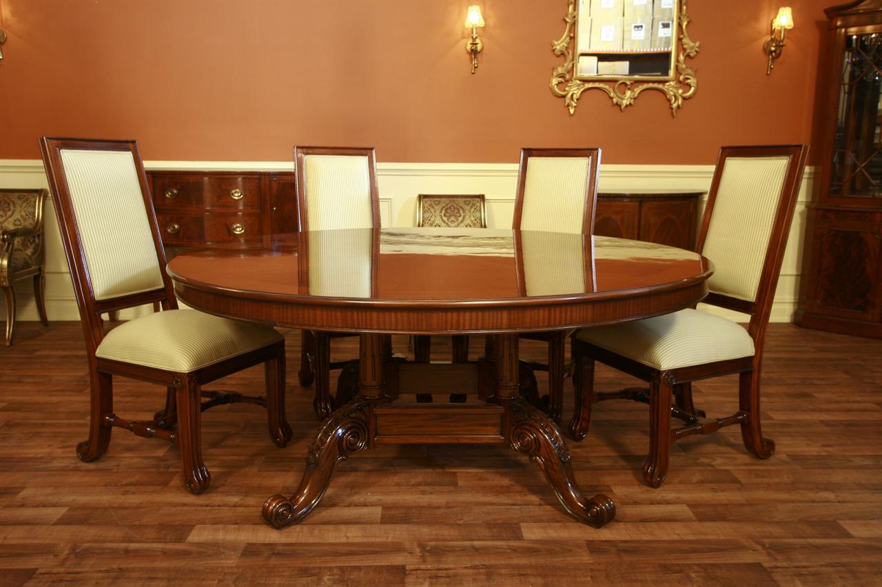 Extra Large Heavy 72 Round Dining Tables By Antiquepurveyor