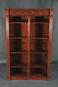 Sheraton style Antique Reproduction Inlaid Mahogany Bookcase