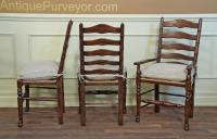 Antique Ladder Back Chairs With Rush Seats | Antique Furniture