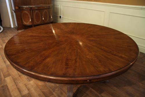 Marvelous Warm Brown Finish Expandable Round Walnut Table Formal Walnut Table Canada Walnut Table Uk Medium Pie Cut Walnut