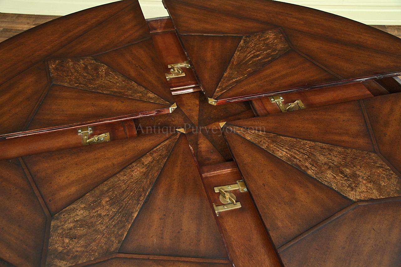 mahoganydining table jupe walnut p large kitchen tables Half way opened or closed the leaves are tucked away here with center of table