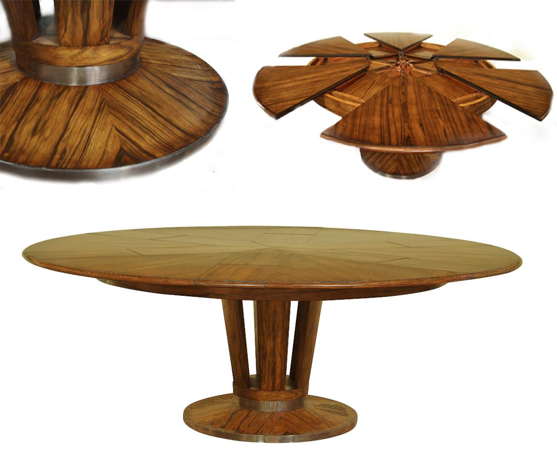 contemporary round dining table with leaf -  round dining table with self storing leaves download