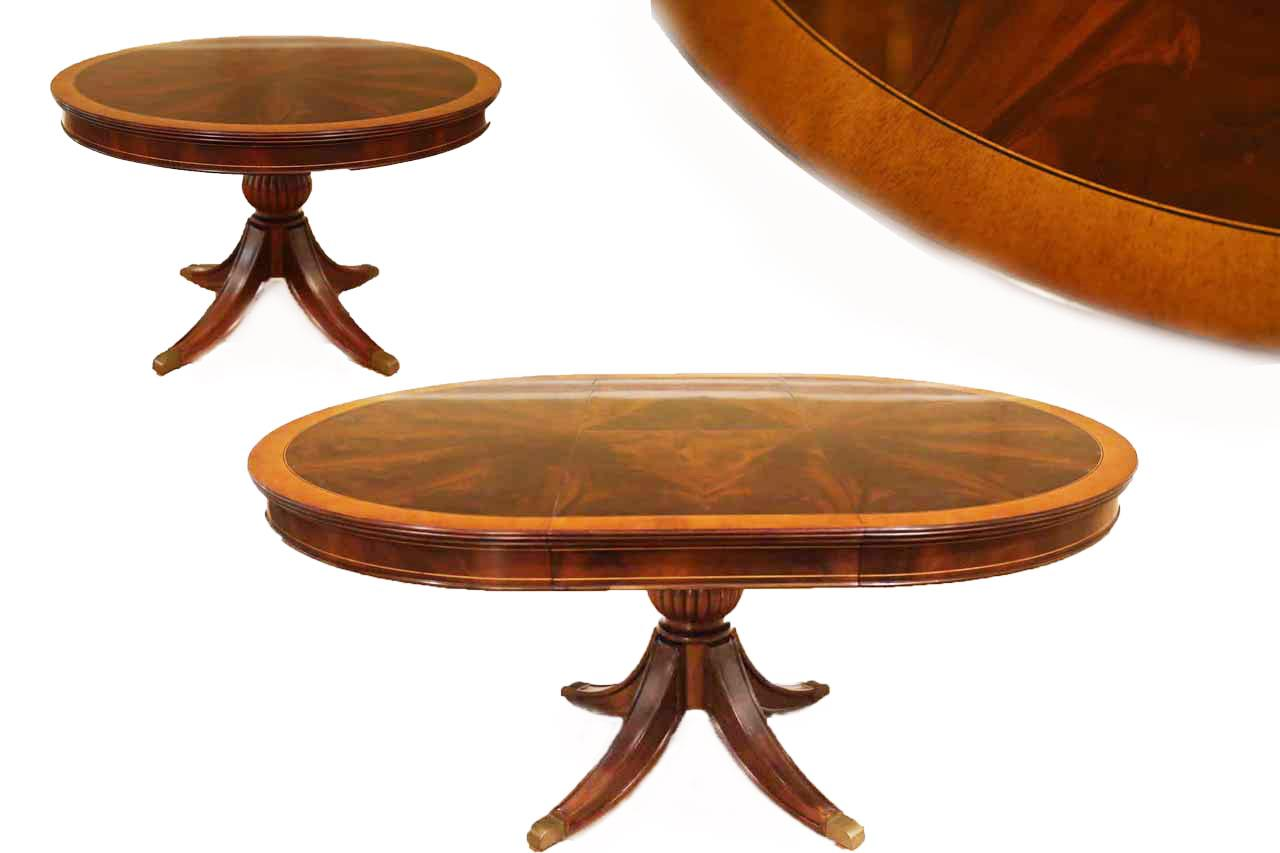 93 Large Round Traditional Dining Room Table With