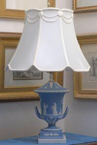 Pair of Wedgwood Jasper Blue Large Champagna Urn Lamp For ...