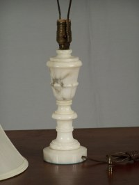 7786 Alabaster table lamp with shade c1930 For Sale ...