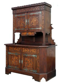 Antique Gothic Oak Cabinet For Sale   Antiques.com ...