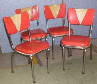 JY102 Chairs - Kitchen Vinyl and Chrome For Sale ...