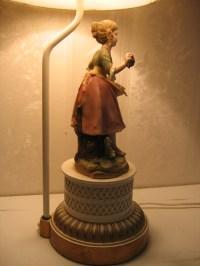 Antique Lamp Lady Figurine   Best 2000+ Antique decor ideas