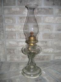 Antique Vintage Kerosene Glass Oil Lamp Lighting Item #906 ...
