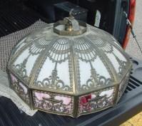 dome chandelier slag glass For Sale | Antiques.com ...