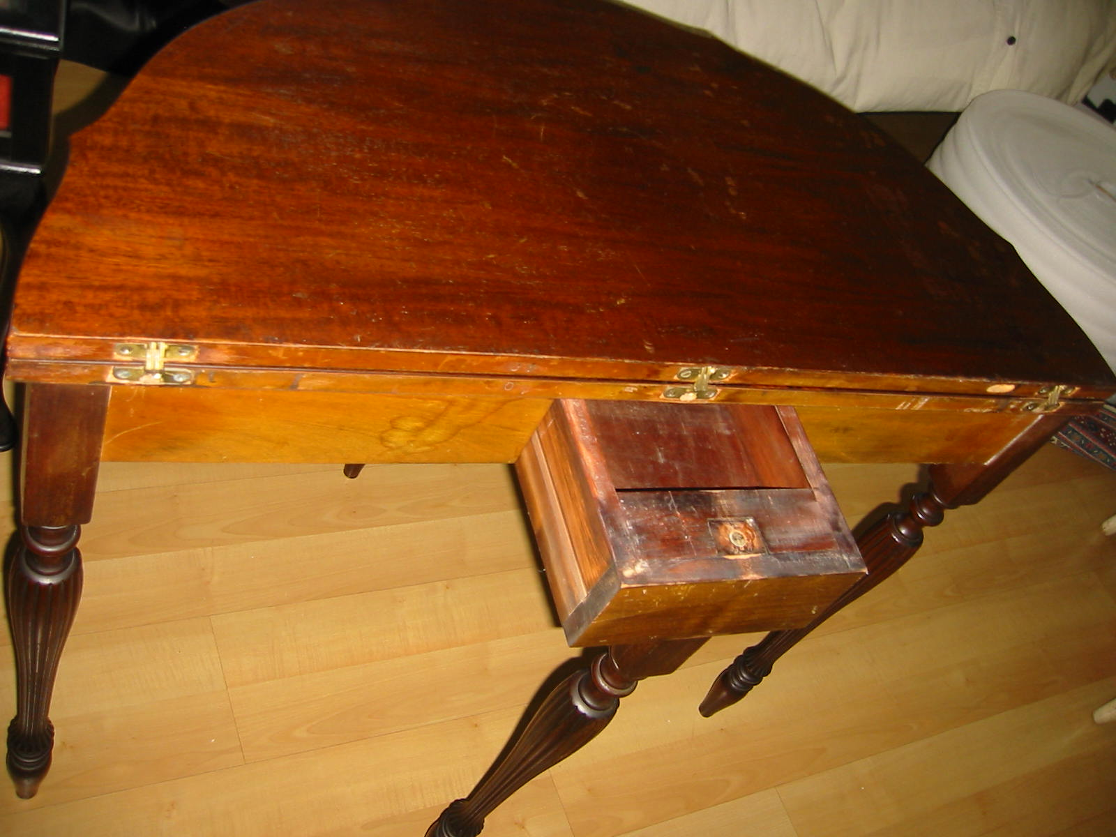 Mersman a regency mahogany inlaid card table for sale