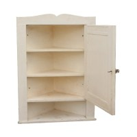Rare Salvaged Bathroom Corner Medicine Cabinet with ...