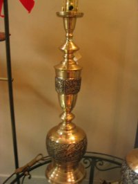 Solid Brass Oriental Design Table Lamp