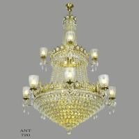 Large Crystal Chandelier Elegant Grand Ballroom Ceiling ...