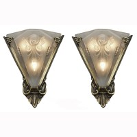 Pair of Large Wall Sconces Lighting with Antique French ...