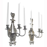 Victorian Neo-Rococo Pair of Candelabrums Wall Sconces ...
