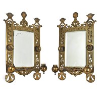 Eastlake Victorian Pair of Candle Sconces Brackets w