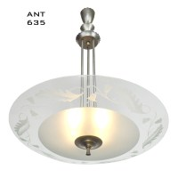 MidCentury Modern Vintage Chandelier Lens Bowl Ceiling ...