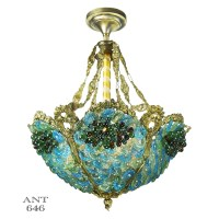 Blue Beaded Chandelier Light - Chandelier Ideas