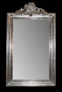 Antique French Silver Leaf Mirror For Sale | Antiques.com ...