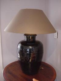 Black Pottery Lamp-CRT3107335 For Sale | Antiques.com ...
