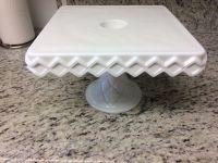 Antique Pedestal Cake Plates & Antique Drop Open Loop LACE ...